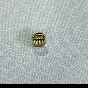 Pandora purse charm with 14k gold